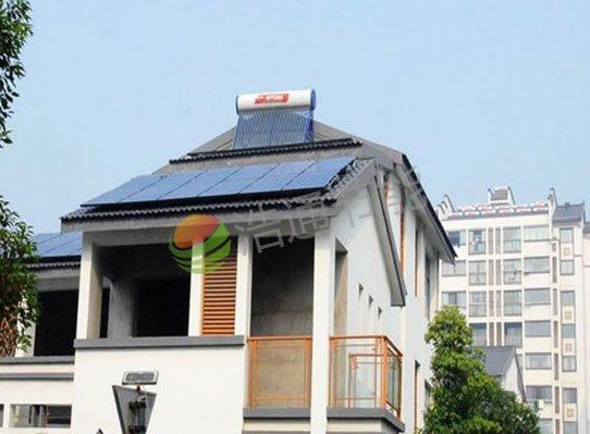 广州增城黄总别墅3KW屋面太阳能光伏发电系统