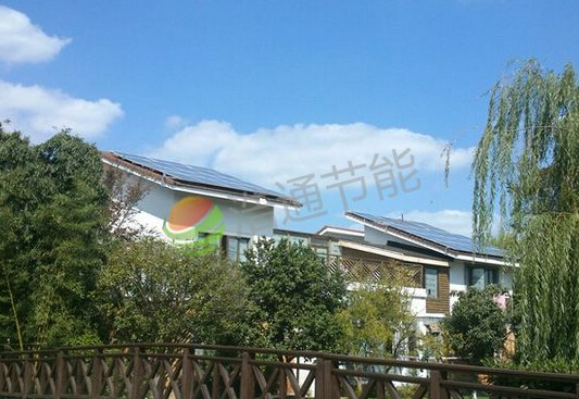 河源龙川县江总别墅4KW屋顶太阳能光伏发电系统