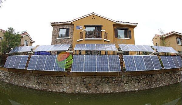惠州园洲镇徐总别墅10KW太阳能光伏发电项目