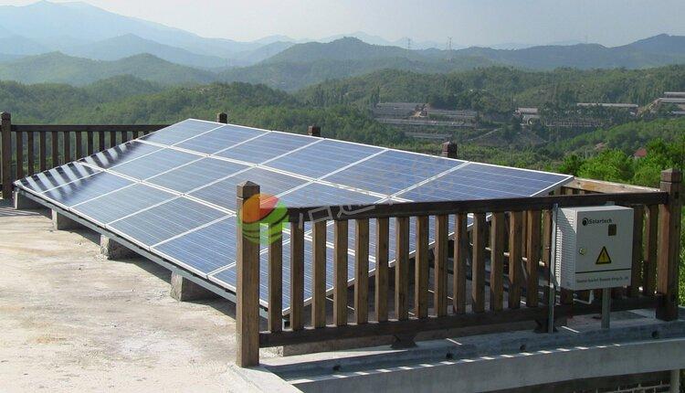 惠州湖镇黄总别墅4.5KW屋顶太阳能光伏发电项目