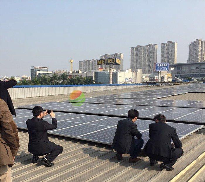 东莞市万江麦德龙商场480KW太阳能光伏发电项目
