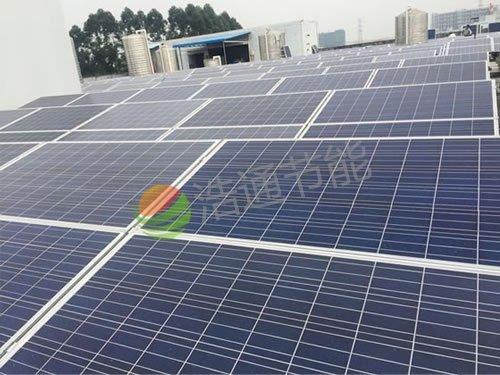 东莞凤岗某工厂100KW太阳能光伏并网发电项目