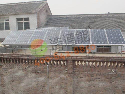 惠州惠城区南门横街周总自建房屋顶4kw太阳能光伏发电项目